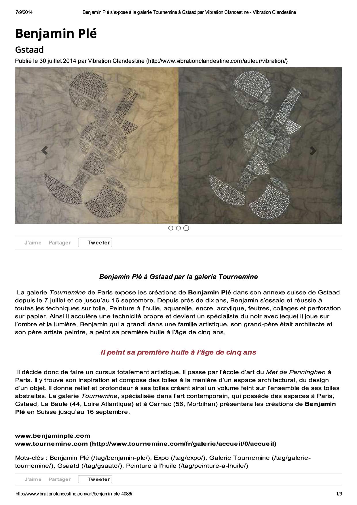 Article - Vibration Clandestine